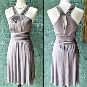 Anthropologie Halter Dress with Keyhole Back